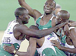 Nigerian men's 4x400 metres relay team after winning the Silver medal at the Sydney Olympics in 2000.